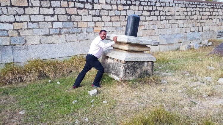 My uncle attempting a Bahubali