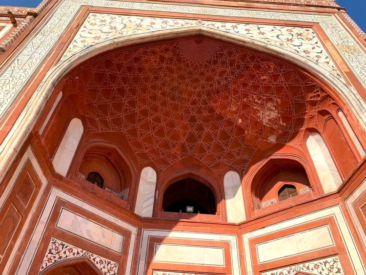 View when standing below Akbar's Tower