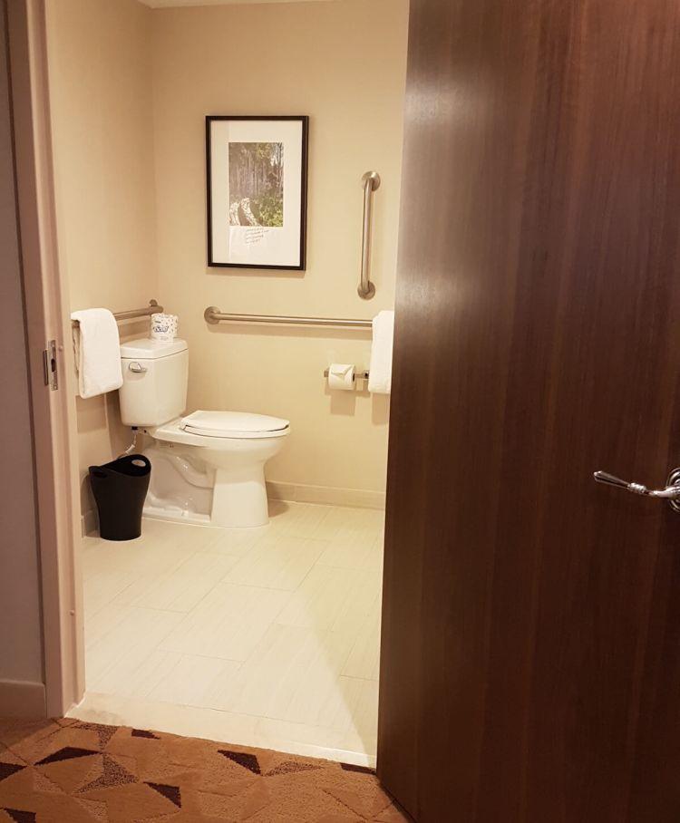 Entrance of the bathroom