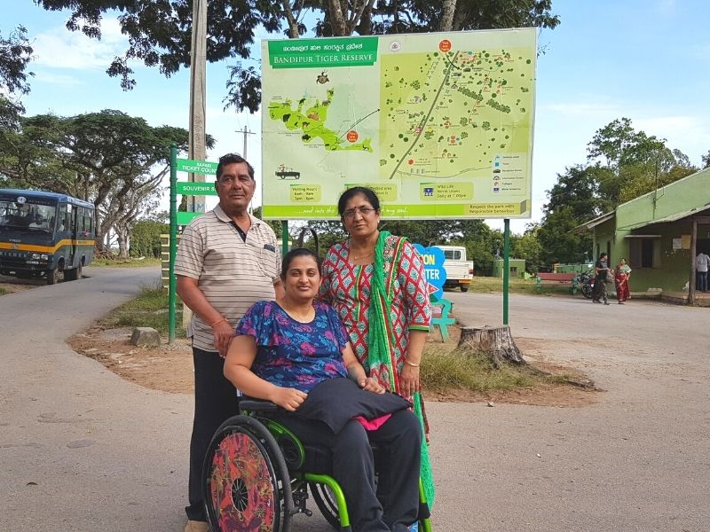 With mom and dad near the ticketing counter and starting point of all jungle safaris