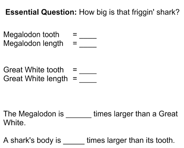 Megalodon Notes blank