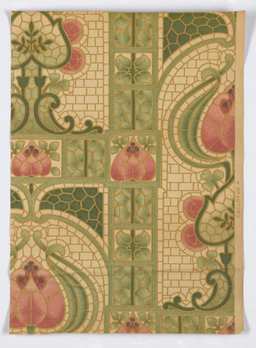 Historic wallpaper sanitary Edwardian Art Nouveau