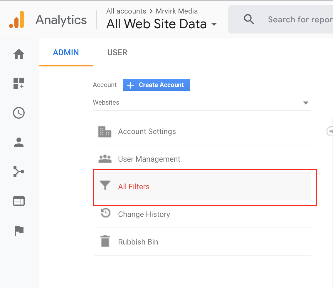 creating an ip address filter in google analytics