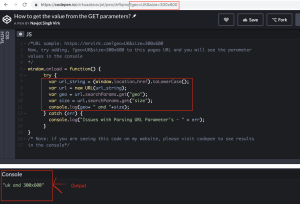 how to get parameter values in javascript query string