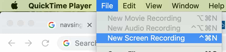 new screen recording on quicktime