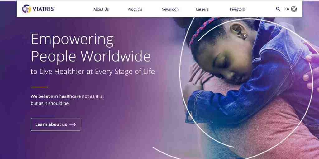 viatris merger news and website