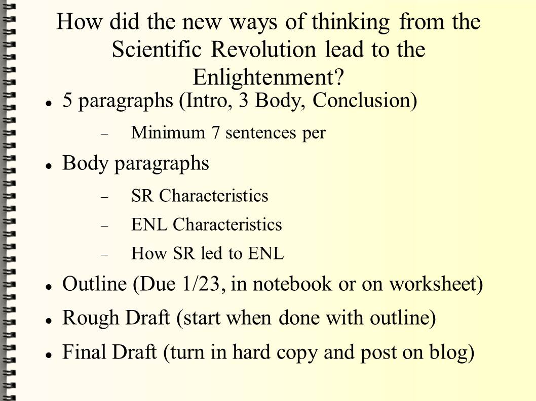 Scientific Revolution And Enlightenment Essay Questions