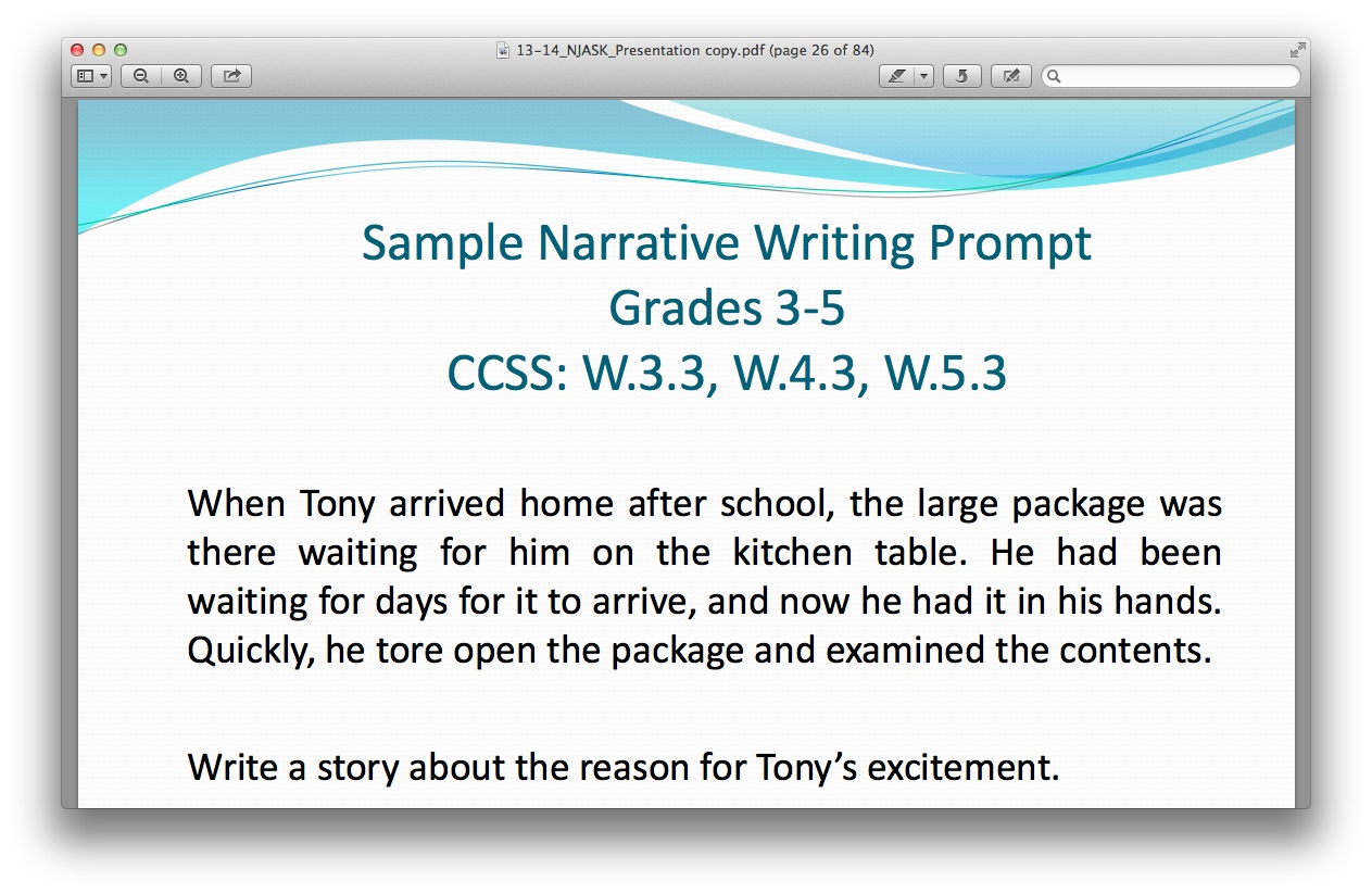 Writing Prompts For 5th Grade Math