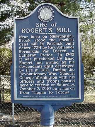 Bogert's Mill Historical Marker.