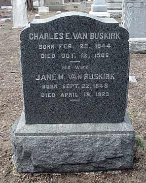 Charles E. Van Buskirk's grave marker.