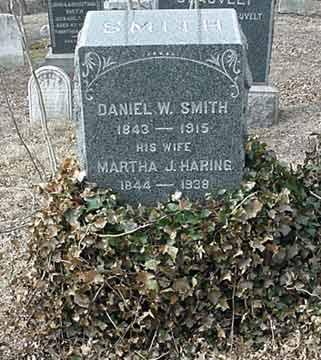 Daniel W. Smith's grave marker.