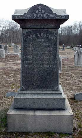 Isaac D. Bogert's grave marker.