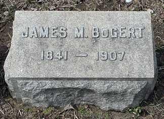 James M. Bogert's grave marker.