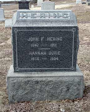 John F. Hering's grave marker.