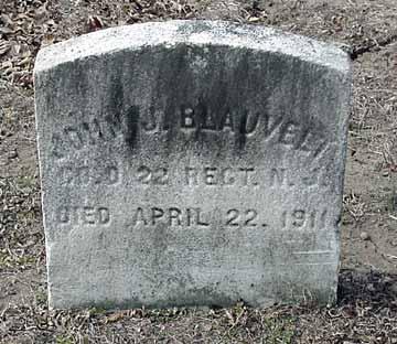 John J. Blauvelt's grave marker.