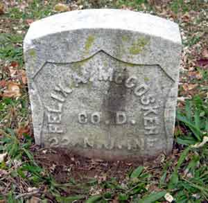 Felix A. McCosker's grave marker.