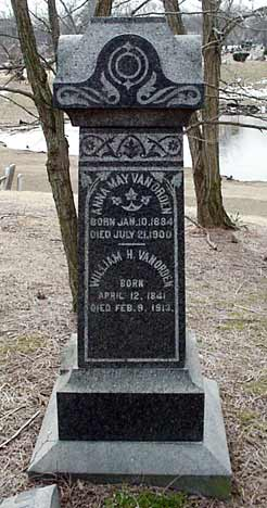 William H. Van Orden's grave marker.