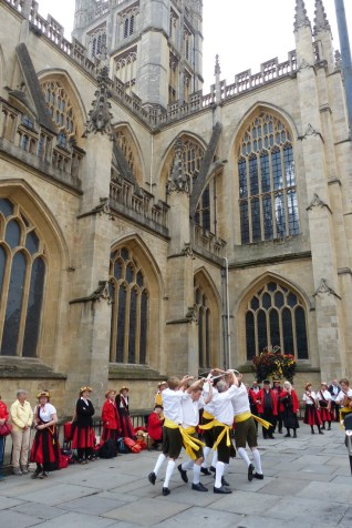 Northgate Rappers performing outside Bath Abbey