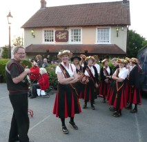 Typical morris view - gathering outside a pub