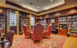 library room in clubhouse colonial heritage