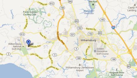 location map braemar creek williamsburg va