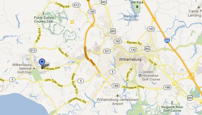 location map braemar creek williamsburg va