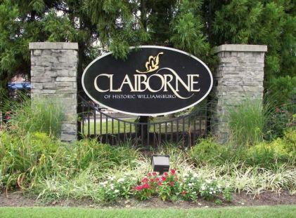 claiborne entrance sign williamsburg va
