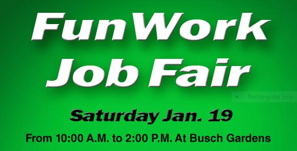 Job Fair for Busch Gardens/ Water Country this weekend — Mr Williamsburg