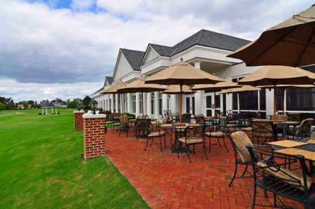 governors land clubhouse two rivers country club patio area