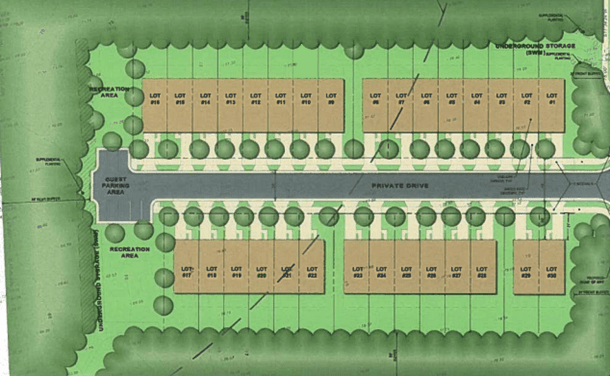 siteplan for Parkway Townes Williamsburg VA