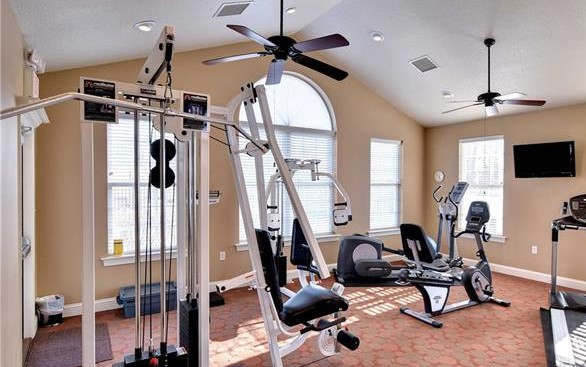 fitness room at the villas at five forks williamsburg va