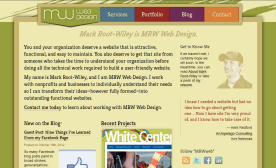 MRWweb.com on a large-size screen.