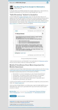 Article in Gmail