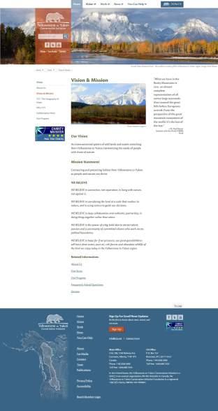 """Y2Y New """"Vision"""" page"""