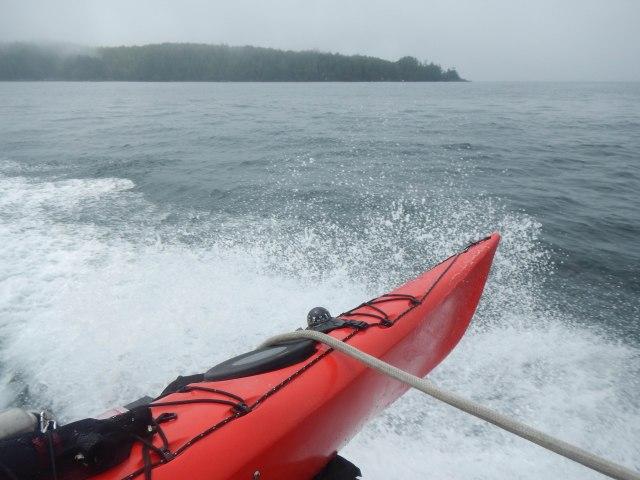 Departing Blunden Island.