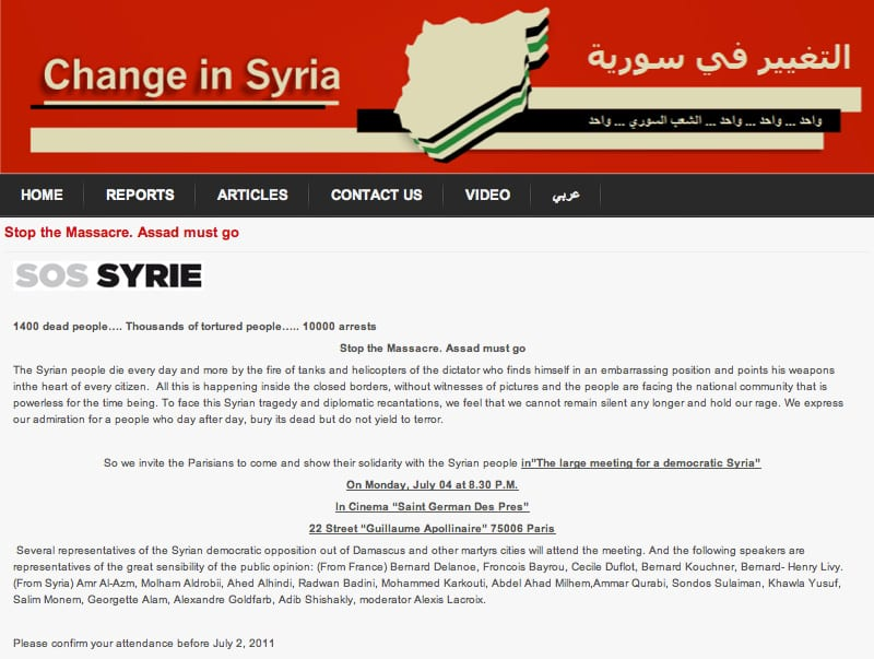 Sos Syrie in English