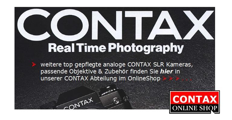 Contax Kameras Übersicht