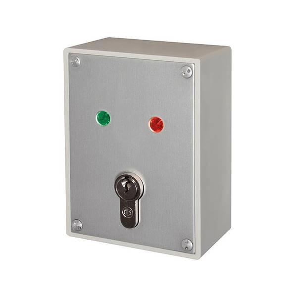 Funk-Schlüsselschalter Sabotage geschützt! Maße Höhe 117 mm - Breite 88 mm - Tiefe 49 mm