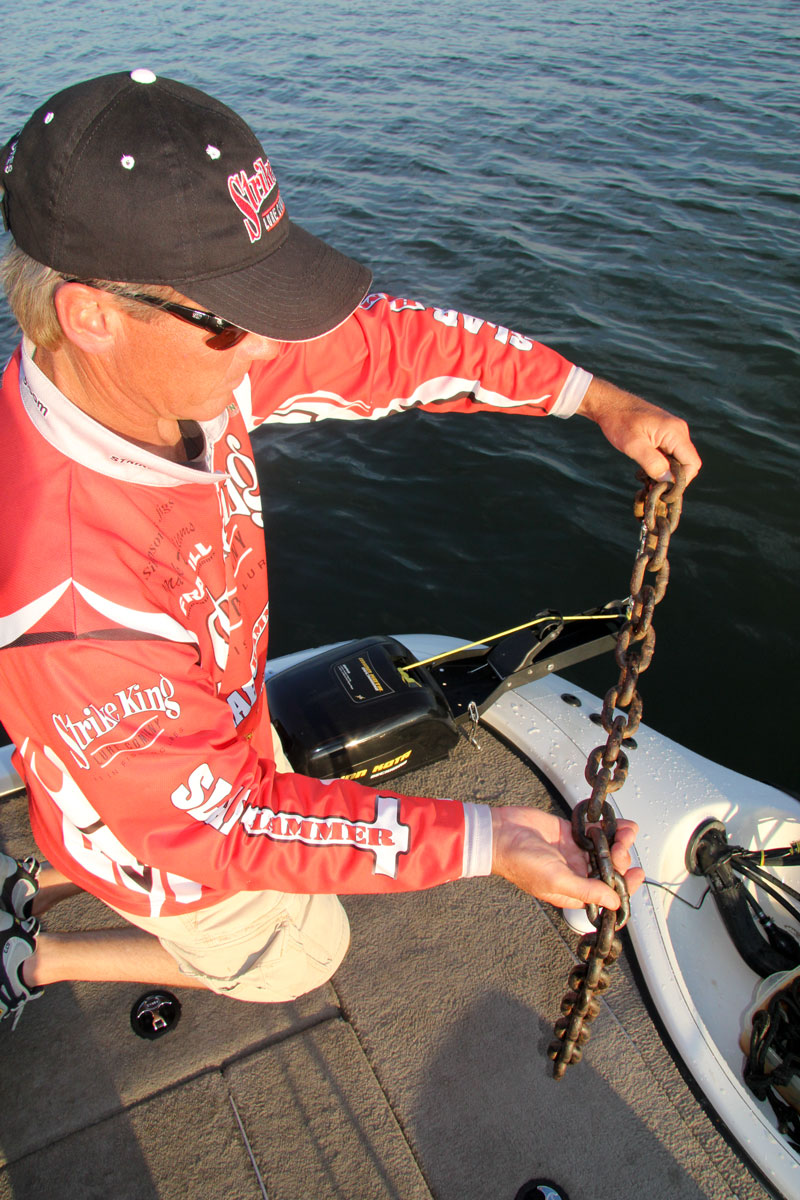 Dragging chains behind the boat is a good option for speed control.