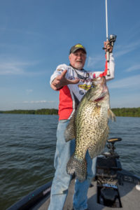 Crappie can't avoid Terry Blankenship just because it's summer and they're deep.