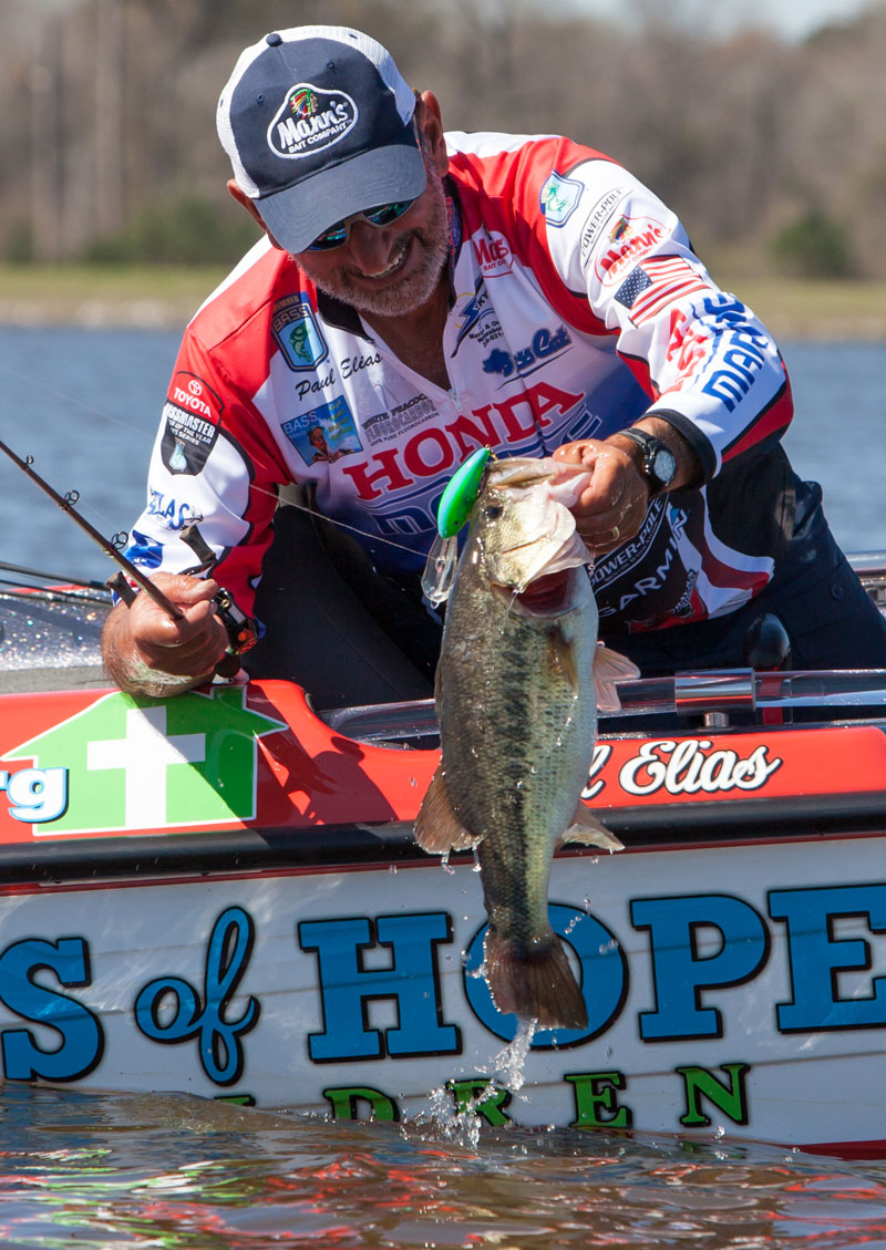 The ledge pattern for bass that starts the last two weeks of May should be productive all the way through August.