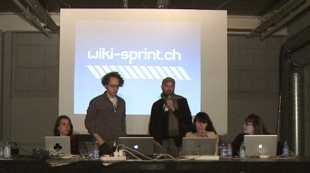 Ilan Katin introducing the wiki-sprint team