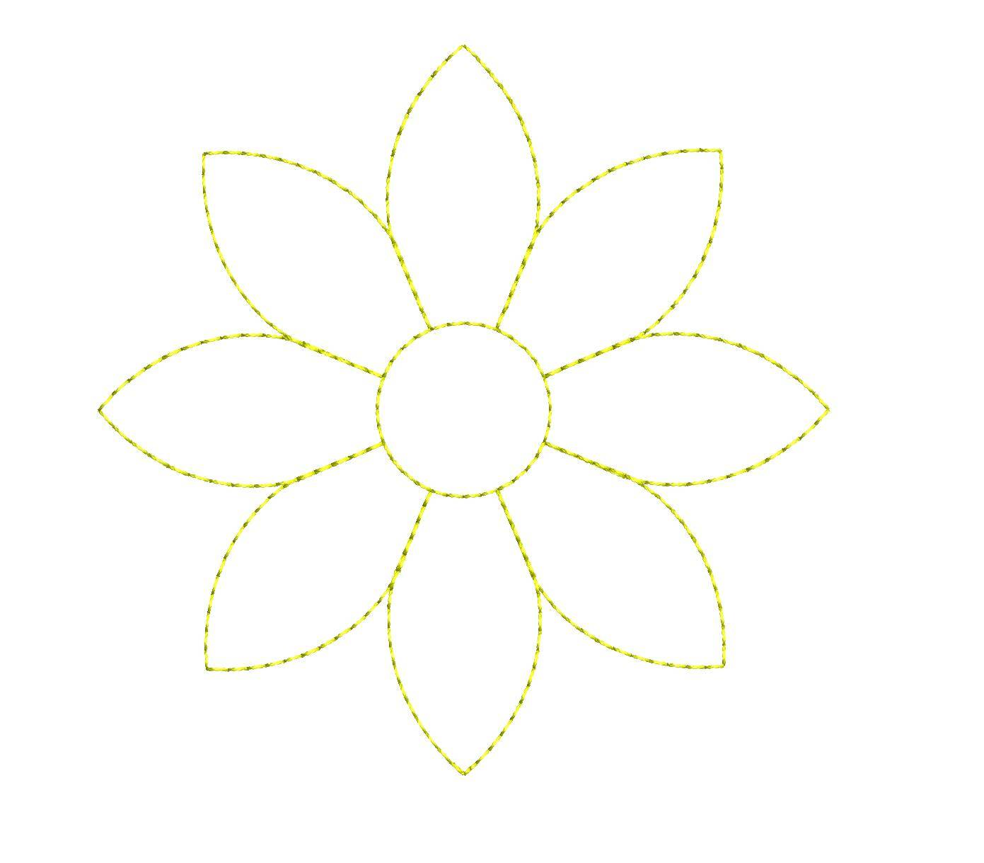 Simple Flower Outline Embroidery Designs Embroideryshristi