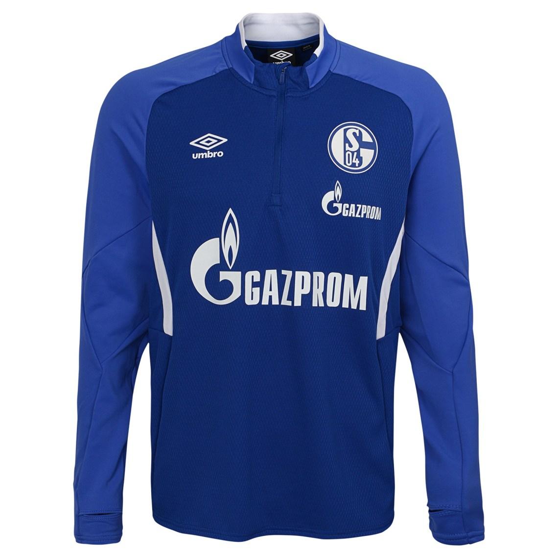 Download Umbro Men's FC Schalke 04 19/20 Half Zip Soccer Jersey ...