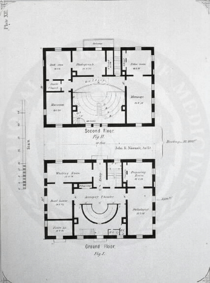 Johns Hopkins Hospital, Baltimore :[Pathological building] /John R. Niernseé, Architect. Images from the History of Medicine Collection, Order No. A01886. National Library of Medicine, History of Medicine Division