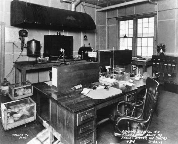 Office in Laboratory. Fort McHenry National Monument and Historic Shrine. Fort McHenry National Monument and Historic Shrine