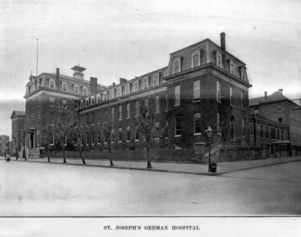 St. Joseph's German Hospital.