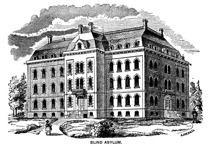 Blind Asylum. George Howard, The Monumental City: Its Past History and Present Resources. (Baltimore: J.D. Ehlers, 1873): 51.. American Memory Project: Library of Congress