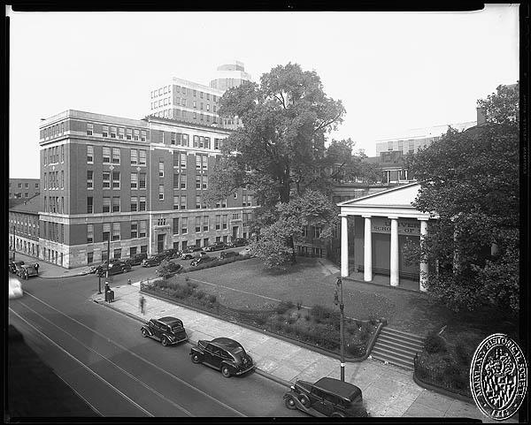 University of Maryland - School of Medicine Davidge Hall, Greene Street and Lombard Street. Hughes Studio Photograph Collection, PP 30. Maryland Historical Society