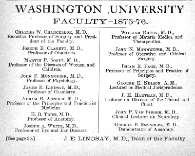 Washington University [announcement]. Maryland State Archives